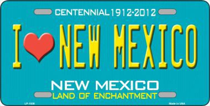 I Love New Mexico Novelty Metal License Plate