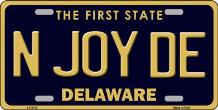N Joy De Delaware Novelty Metal License Plate LP-6721