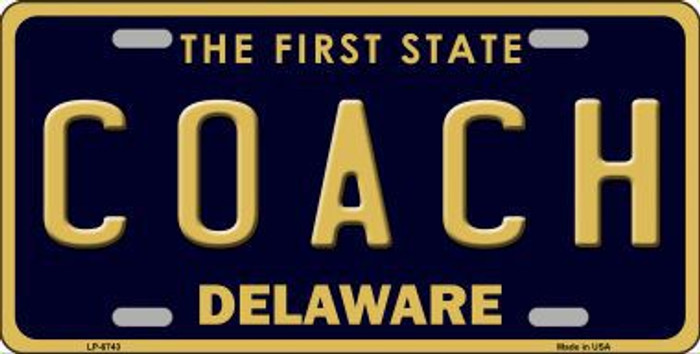 Coach Delaware Novelty Metal License Plate LP-6743