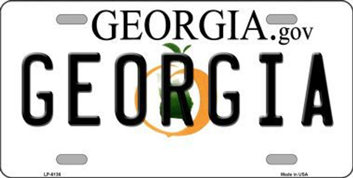 Georgia Novelty Metal License Plate