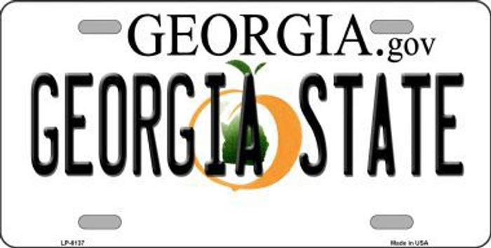 Georgia State Novelty Metal License Plate