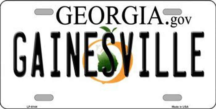 Gainesville Georgia Novelty Metal License Plate
