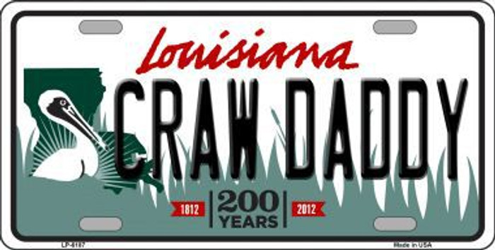 Craw Daddy Louisiana Novelty Metal License Plate