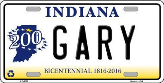 Gary Indiana Novelty Metal License Plate