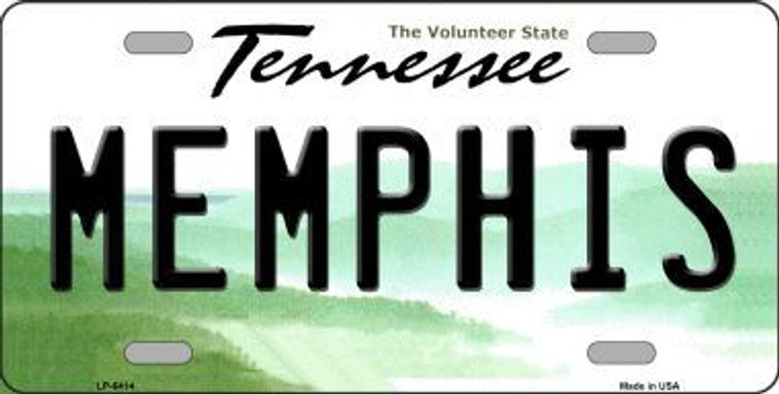 Memphis Tennessee Novelty Metal License Plate