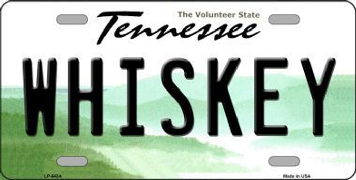 Whiskey Tennessee Novelty Metal License
