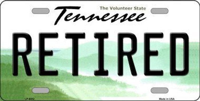 Retired Tennessee Novelty Metal License Plate