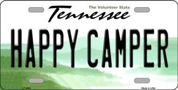 Happy Camper Tennessee Novelty Metal License Plate