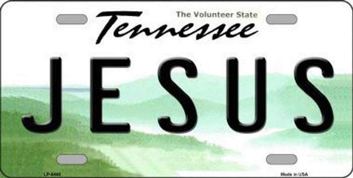 Jesus Tennessee Novelty Metal License Plate