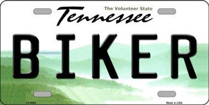 Biker Tennessee Novelty Metal License Plate
