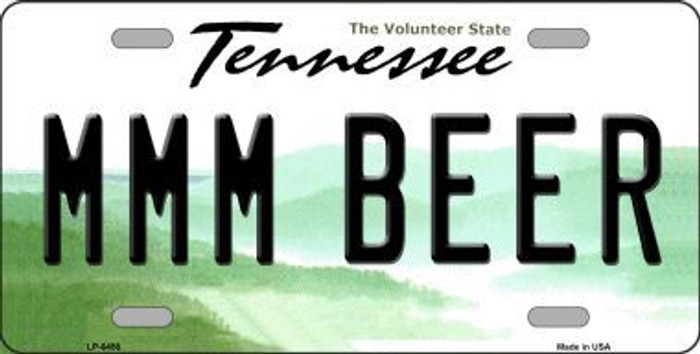 MMM Beer Tennessee Novelty Metal License Plate