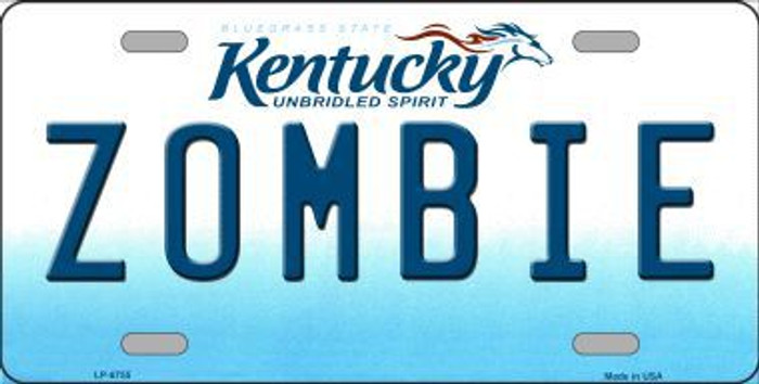Zombie Kentucky Novelty Metal License Plate