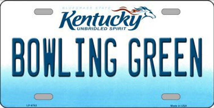 Bowling Green Kentucky Novelty Metal License Plate
