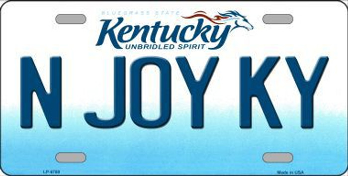 N Joy Kentucky Novelty Metal License Plate