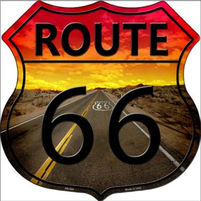 Route 66 Highway Shield Metal Sign