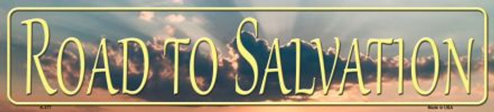 Road To Salvation Novelty Metal Mini Street Sign