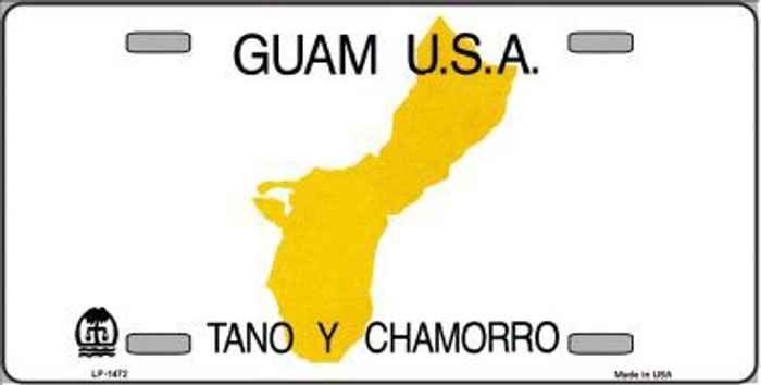 Guam Novelty State Background Metal License Plate