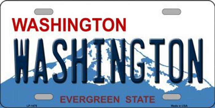 Washington State Background Novelty Metal License Plate