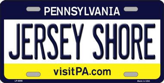 Jersey Shore Pennsylvania State Background Novelty Metal License Plate