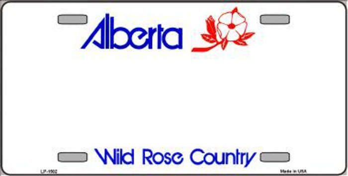 Alberta Novelty Background Metal License Plate