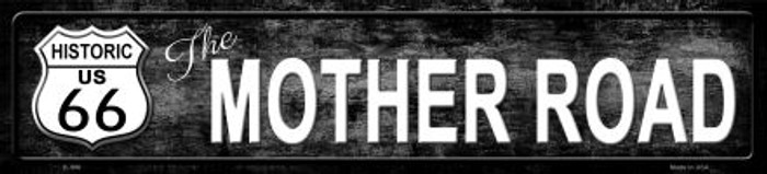 Route 66 Mother Road Black Metal Novelty Street Sign