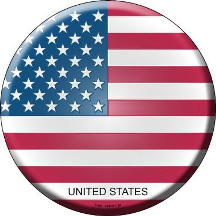 United States Country Novelty Metal Circular Sign