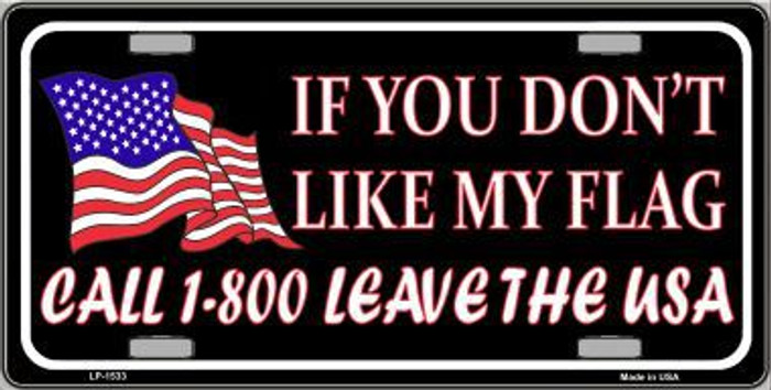 1 800 Leave The USA Metal Novelty License Plate