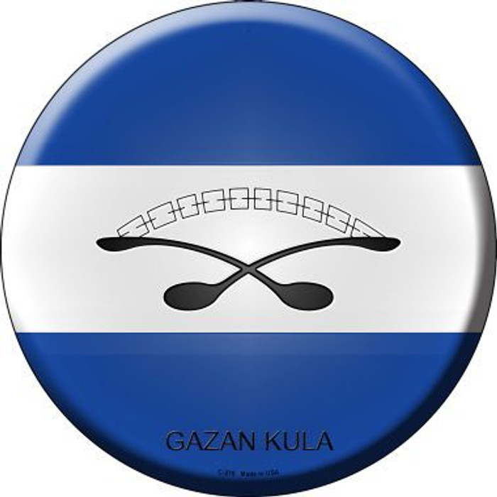 Gazan Kula Country Novelty Metal Circular Sign