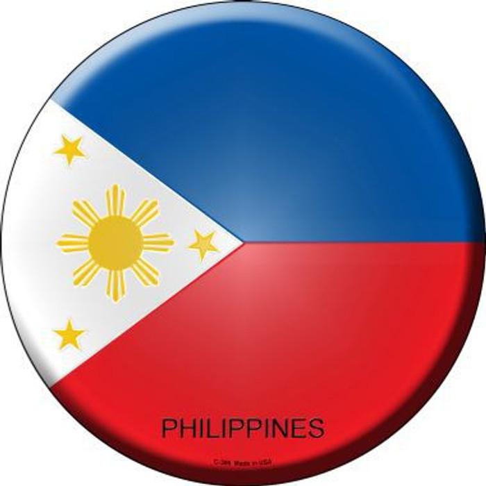 Philippines Country Novelty Metal Circular Sign