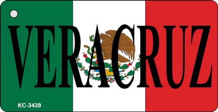 Veracruz On Flag Mini License Plate Metal Key Chain