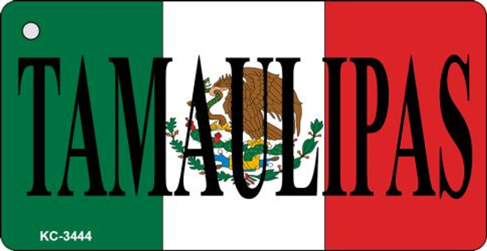 Tamaulipas On Flag Mini License Plate Metal Key Chain