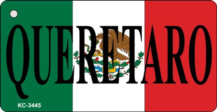 Queretaro On Flag Mini License Plate Metal Key Chain