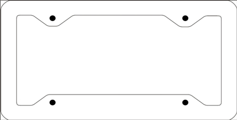 """Personalized Design Your Own Custom 12"""" x 6"""" Novelty Automotive Aluminum Ultra Slim Line License Plate Frame"""