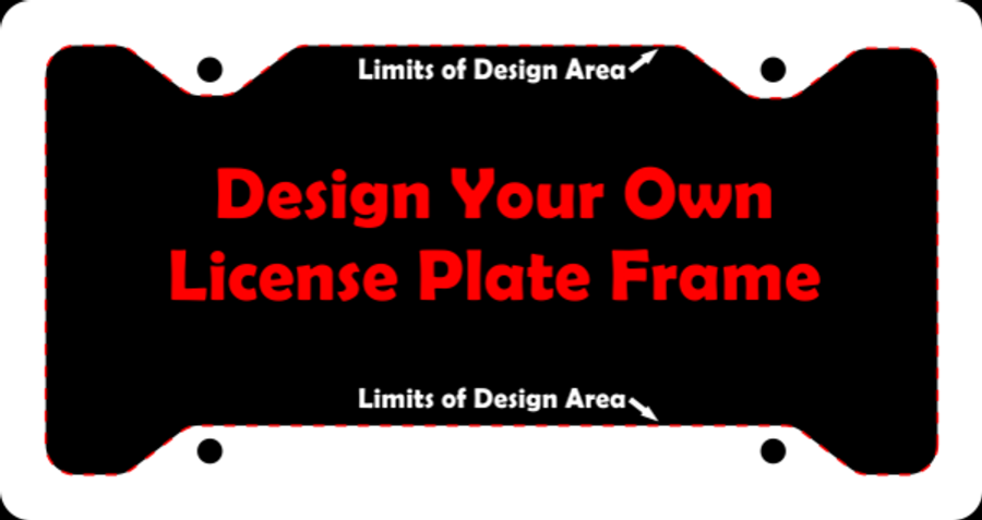 "Personalized Custom Aluminum License Plate Frame | 12"" x 6"""