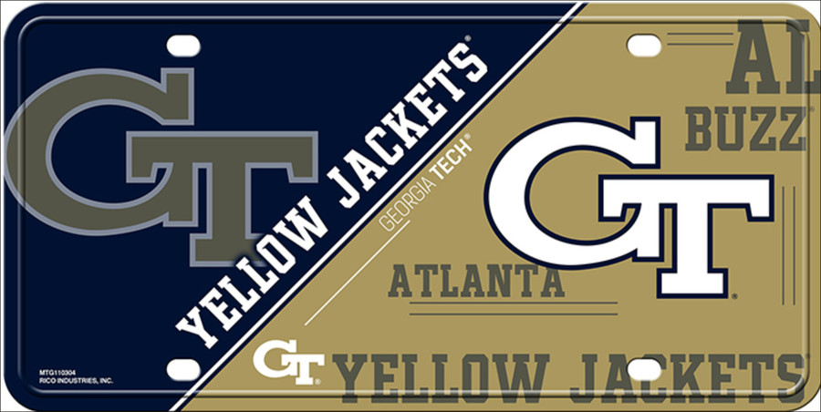 Georgia Tech Yellow Jackets Deluxe Novelty Metal License Plate LP-5622