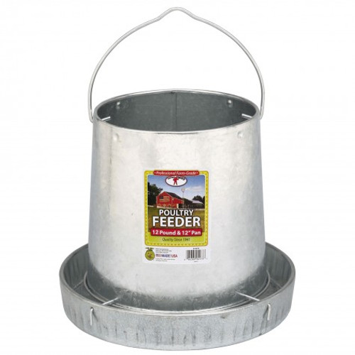 Little Giant - Hanging Metal Poultry Feeder - 12lb.