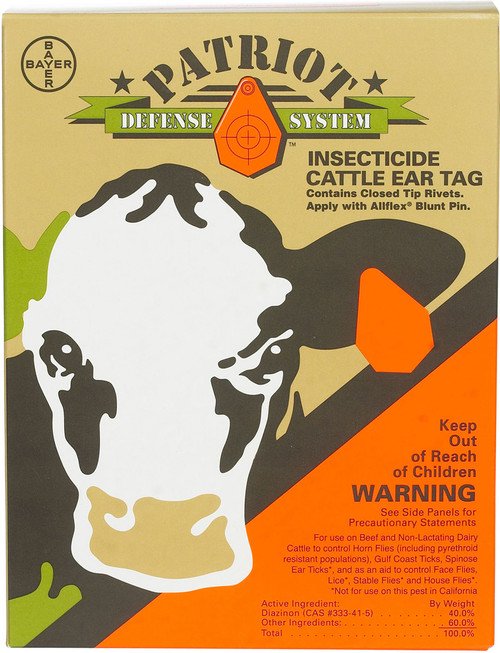 Patriot Insecticide Ear Tags - 20 Count