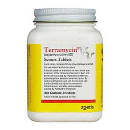 Terramycin Scours Tablets - 24 ct