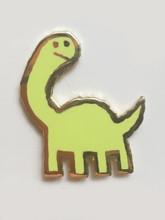 Long Neck Enamel Pin