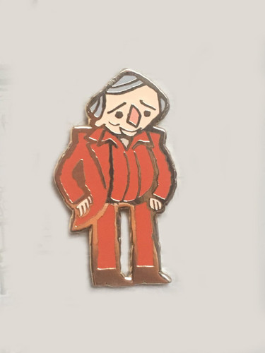 Man in Red Enamel Pin