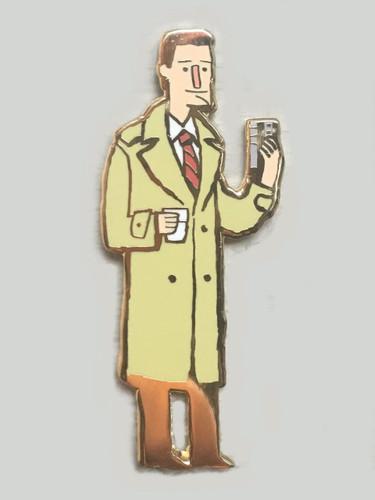 Agent Coop Enamel Pin