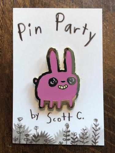Chubby Bunny Pin
