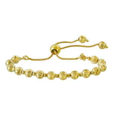 franco yellow chain bracelet hollow gold inches thick
