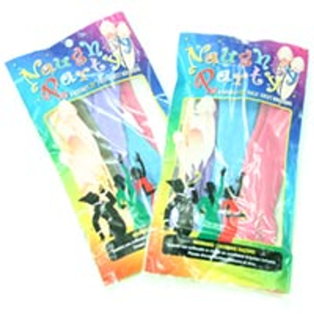"""22 """"Naughty Party Penis Balloons - Asst. Colors Pack Of 8"""