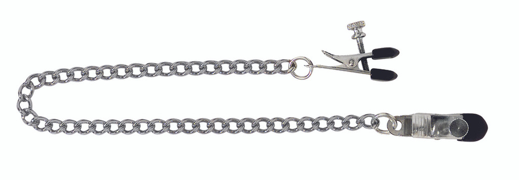Adjustable Broad Tip Nipple Clamps Includes Link Chain