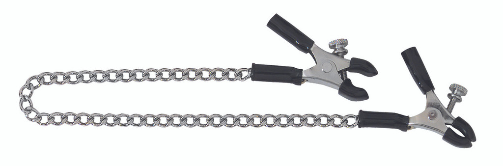 Adjustable Micro Plier Nipple Clamps Includes Link Chain