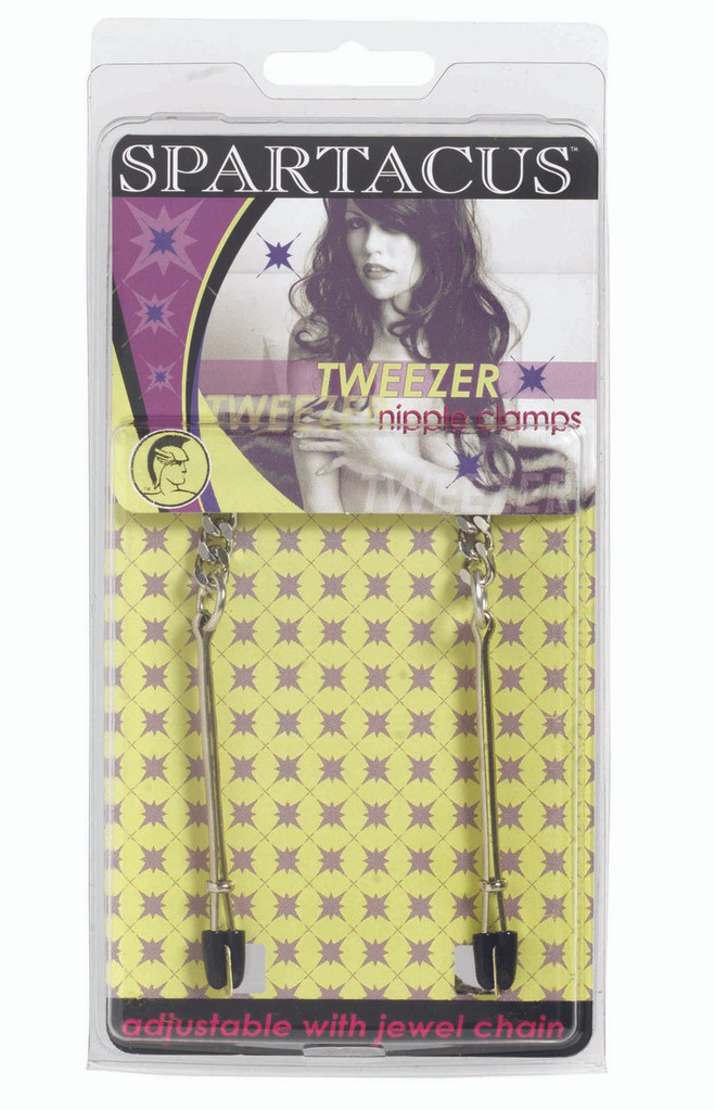 Adjustable Tweezer Nipple Clamps Includes Jewel Chain