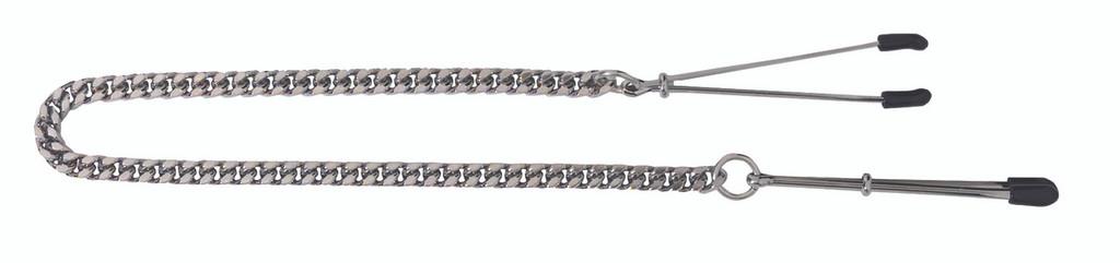 Adjustable Tweezer Nipple Clamps Includes Jewel Chain