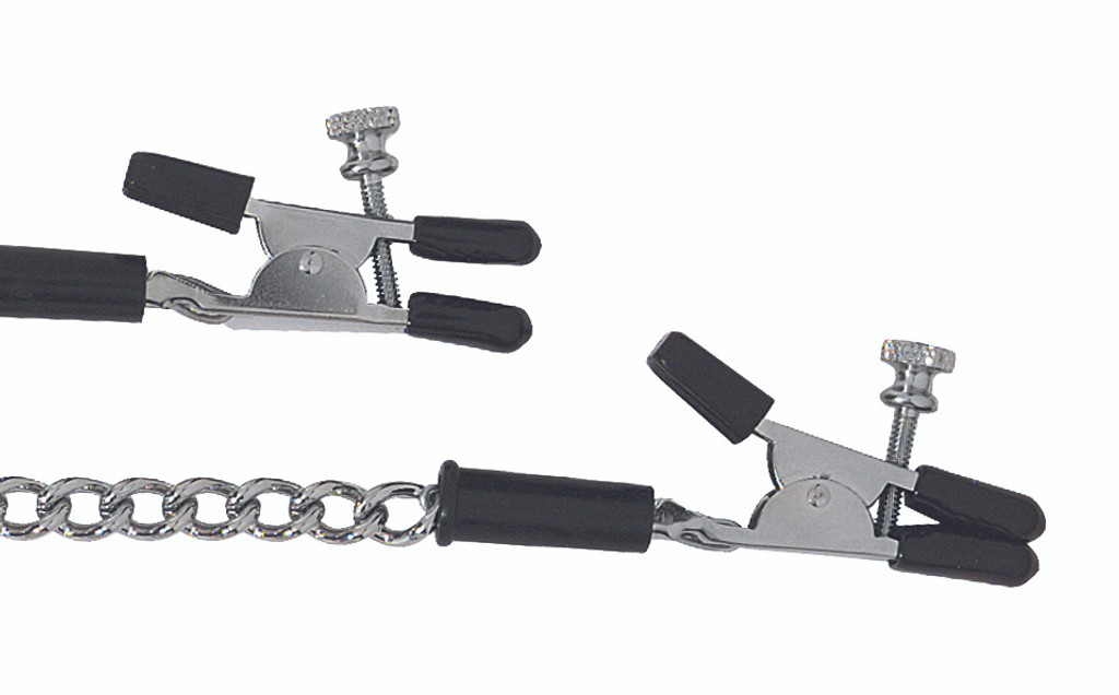 Adjustable Alligator Nipple Clamps Includes Link Chain