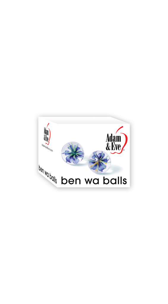 Adam & Eve Glass Ben Wa Balls - Clear
